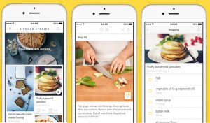 Mobile Kitchen stories app